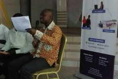 "TOLEC Ghana delivering a Speech on ""Substance and drug abuse: implication on young people's health"" at the Young Voices Forum"